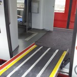 Fahrzeuggebundene Einstiegshilfe in Duitse regionale trein in de praktijk